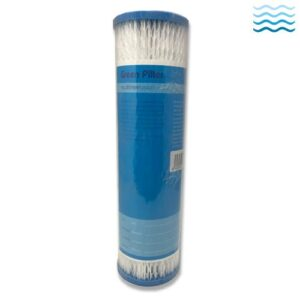 Pleated polyester sediment cartridges