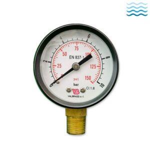 Water pressure reducer and pressure gauce